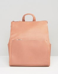 Missguided Square Minimal Backpack Blush Pink
