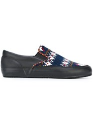 Comme Des Garcons Shirt Slip On Sneakers Blue
