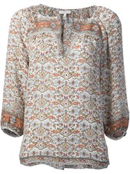 Joie Printed Blouse Nude And Neutrals