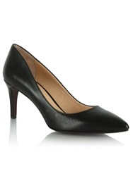 Daniel Maturity Leather Pointed Court Shoes Black
