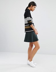 Y.A.S Romain Knitted Flippy Skirt Green