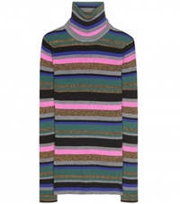Emilio Pucci Striped Turtleneck Sweater Multicoloured