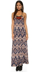 Tbags Los Angeles Tribal Print Maxi Dress