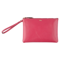 Tula Smooth Originals Leather Wristlet Clutch Bag Pink