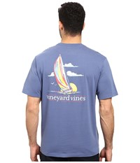 Vineyard Vines Short Sleeve Set Sail T Shirt Moonshine Men's T Shirt Gray