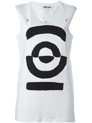 Mcq By Alexander Mcqueen Tribal Markings Print Tank Top White