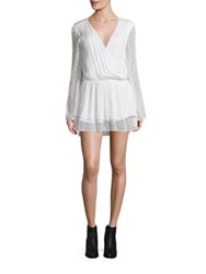 Free People Daliah Swiss Dot Mini Dress Ivory