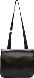 Diesel Black Gold Black Leather Private E2 Messenger Bag