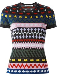 Mary Katrantzou 'Pedro' Sparkle Jacquard Top Multicolour