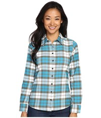 Mountain Khakis Aspen Flannel Shirt Bermuda Women's Clothing Blue