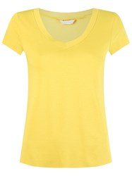 Lygia And Nanny V Neck T Shirt Yellow And Orange