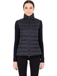 Moncler Wool Knit And Quilted Nylon Jacket