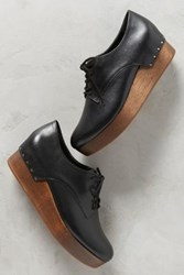 Anthropologie Millennial Jamie Platform Oxfords Black