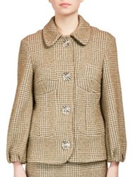 Simone Rocha Textured Jacket With Large Buttons Khaki