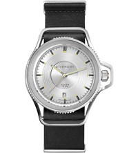 Givenchy Gy100181s07 Seventeen Stainless Steel And Leather Watch