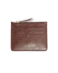 Scotch And Soda Brown Leather Zipped Card Wallet