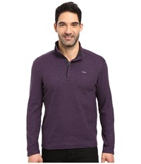 Calvin Klein Long Sleeve Solid Sz Mock Neck Vesper Heather Men's Clothing Purple