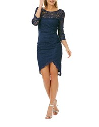 Laundry By Shelli Segal Lace High Low Dress Inkblot