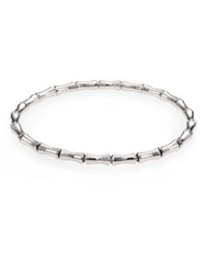 Gucci Bamboo 18K White Gold Thin Bracelet