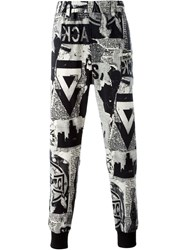 Ktz Printed Track Pants Nude And Neutrals