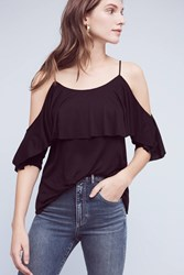 Anthropologie Havana Open Shoulder Top Black