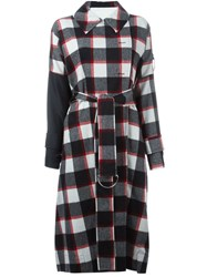 3.1 Phillip Lim Oversize Plaid Trench Coat