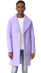 Carven Wool Coat Lilas