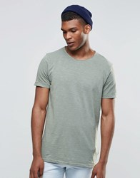 United Colors Of Benetton T Shirt With Raw Edge Neck Khaki Beige
