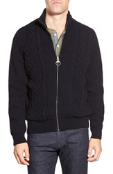 Men's Barbour 'Gregor' Cable Knit Zip Front Sweater