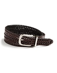 Nautica Reversible Herringbone Leather Belt Tan Black