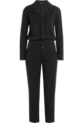 Closed Jumpsuit With Drawstring Waist Black