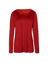 Wolford T Shirts Maroon