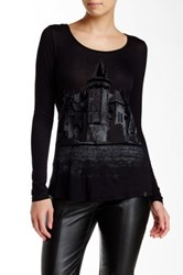 Lez A Lez Draped Back Graphic Tee Multi