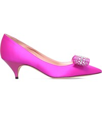 Rochas Embellished Satin Courts Pink