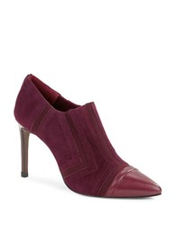 Donald J Pliner Pixie Cap Toe Booties Burgundy