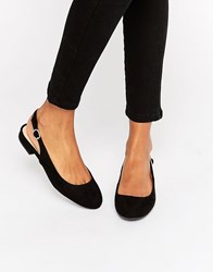 New Look Sling Back Pump Black