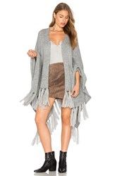 Jens Pirate Booty Shawl Poncho Gray