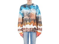 Acne Studios Women's Tie Dyed Cotton Fleece Sweatshirt Red
