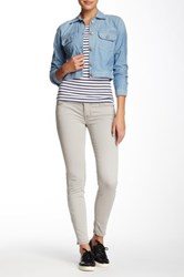 Fidelity Mila Mid Rise Ankle Slim Pant Gray