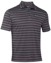 Under Armour Men's Tech Stripe Golf Polo Graphite