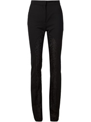 Francesco Scognamiglio Lace Panelled Trousers Black