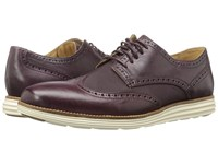 Cole Haan Original Grand Wing Oxford Cordovan Leather Textile Ivory Men's Lace Up Casual Shoes Brown