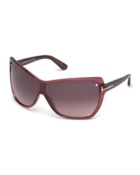 Tom Ford Katerina Plastic Sunglasses Bordeaux