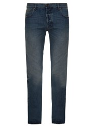 Valentino Slim Straight Leg Jeans Light Blue