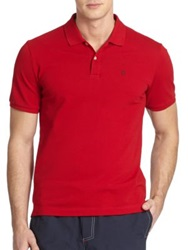 Victorinox Stretch Pique Cotton Polo Red Blue