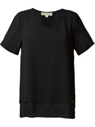 Michael Michael Kors Layered See Through T Shirt Black