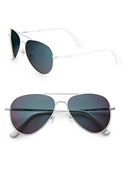 Polaroid 58Mm Aviator Sunglasses White