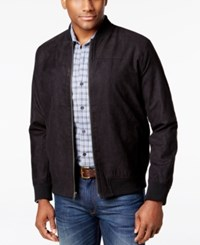 Tasso Elba Men's Microsuede Bomber Jacket Only At Macy's Black Combo
