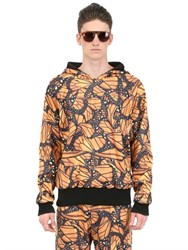 Der Metropol Hooded Butterfly Print Techno Sweatshirt