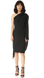 Gareth Pugh One Shoulder Dress Black